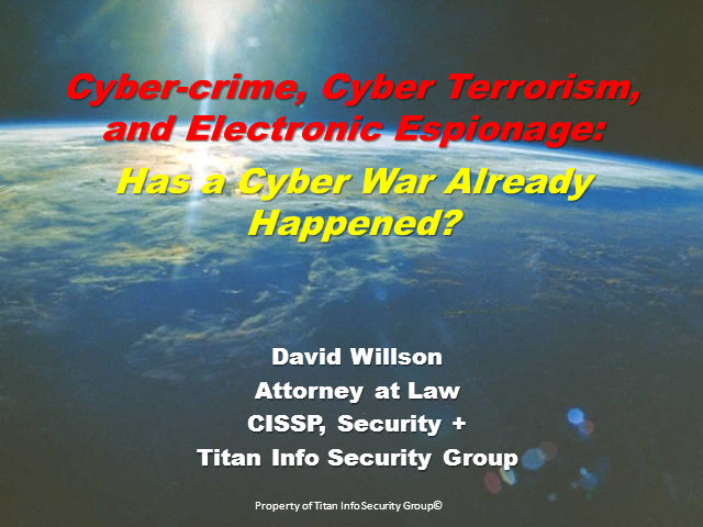 When Does Electronic Espionage Become an Act of War?