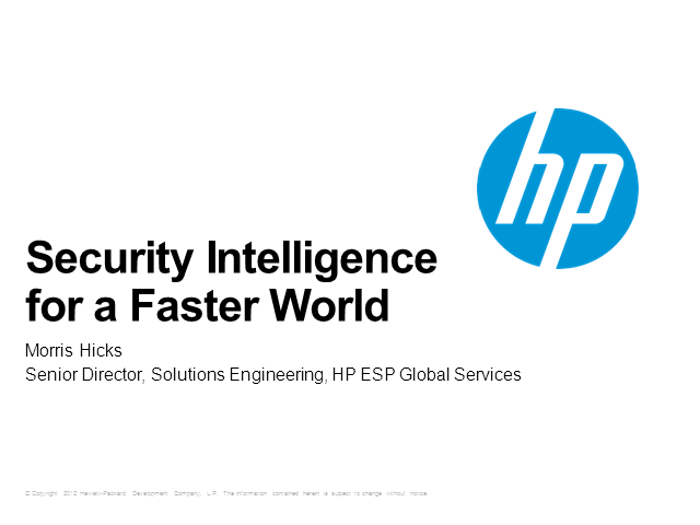 Security Intelligence for a Faster World