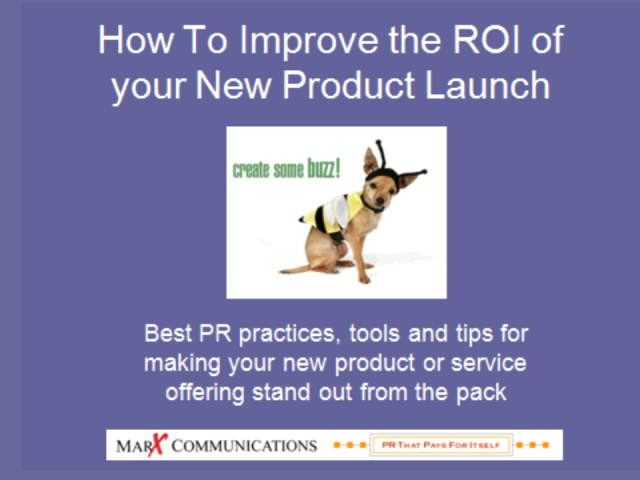 2009 B2B PR Best Practices: Introducing New Products & Services