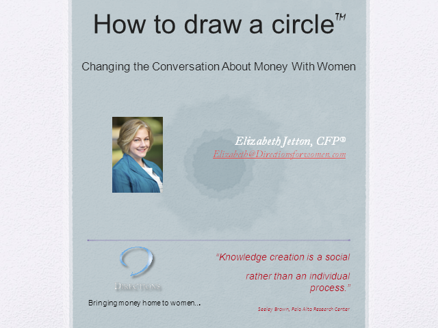 How to Draw A Circle: The Art of Changing the Conversation about Money for Women