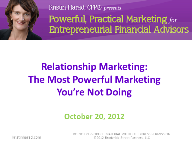 The Most Powerful Marketing You're Not Doing