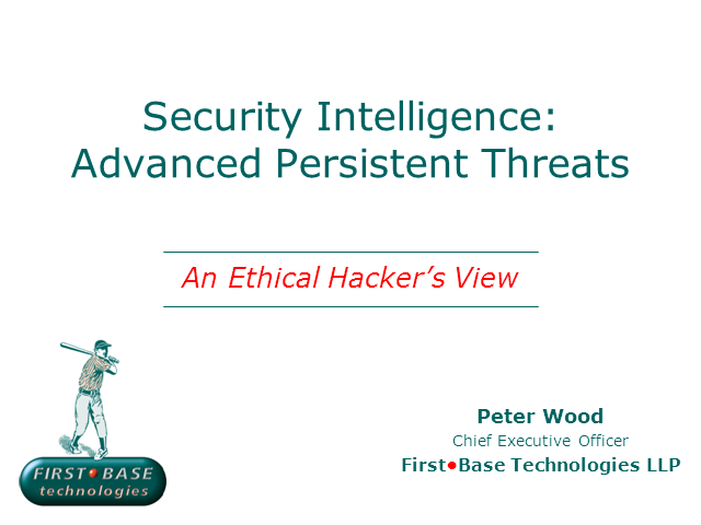 Security Intelligence: Advanced Persistent Threats