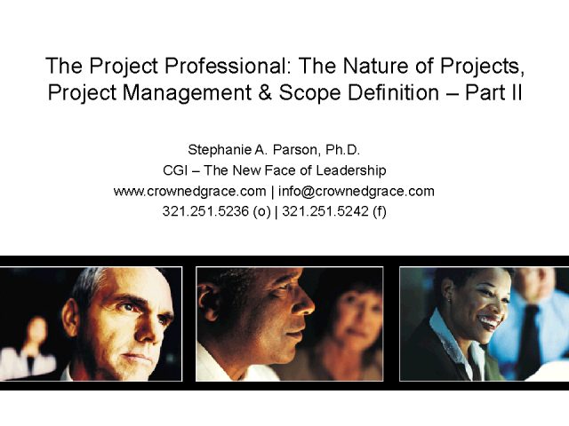 The Project Manager Professional - Part II