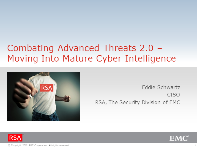Combating Advanced Threats 2.0 – Moving Into Mature Cyber Intelligence