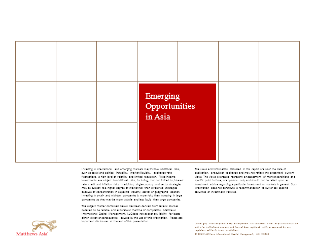 Matthews Asia: Emerging Opportunities in Asia