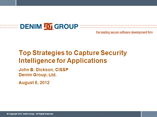 Top Strategies to Capture Security Intelligence for Applications
