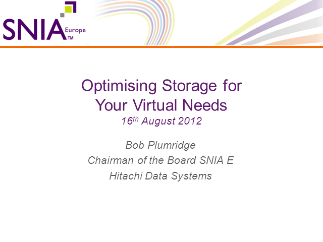 Optimizing Storage for Your Virtual Needs