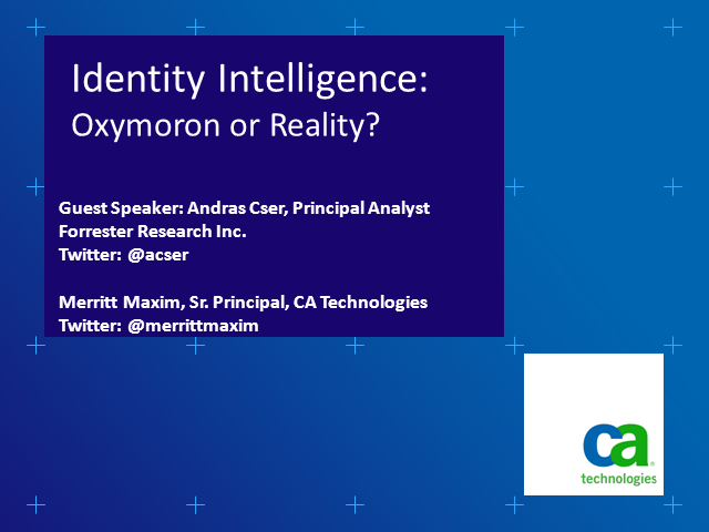 Identity Intelligence: Oxymoron or Reality?