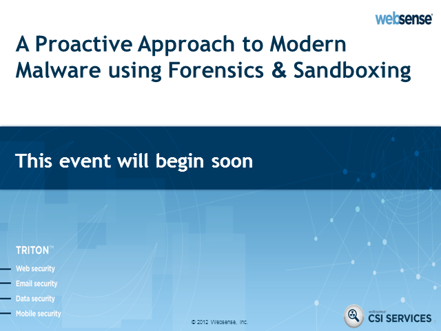 A Proactive Approach to Modern Malware using Forensics & Sandboxing