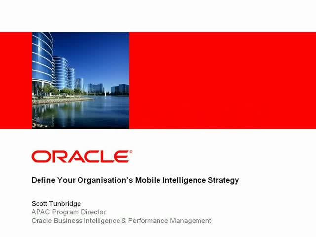 BI: Define your organisation's Mobile Intelligence strategy