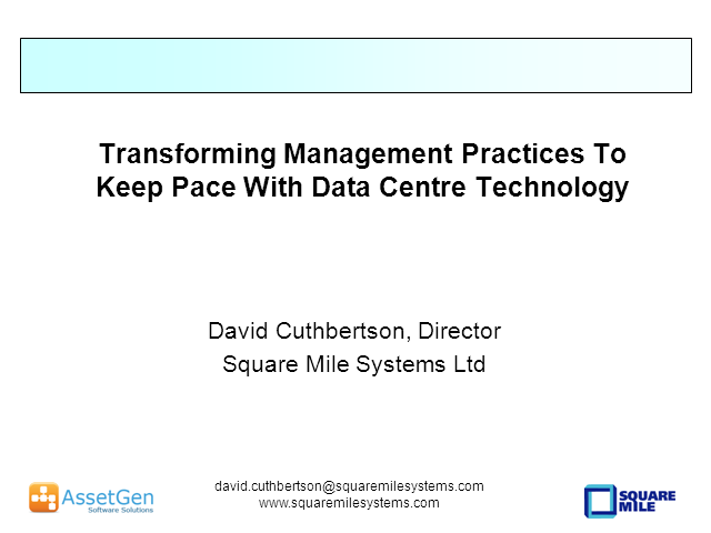 Transforming Management Practices To Keep Pace With Data Center Technology