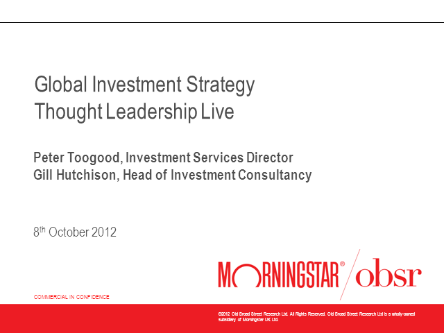 Morningstar OBSR Global Investment Strategy Update