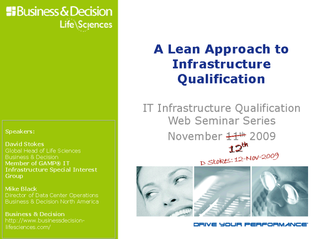 A Lean Approach to IT Infrastructure Qualification