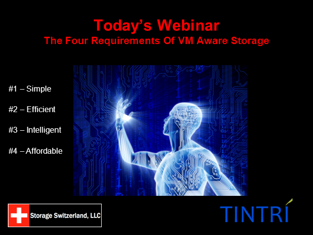 The Four Requirements of VM Aware Storage