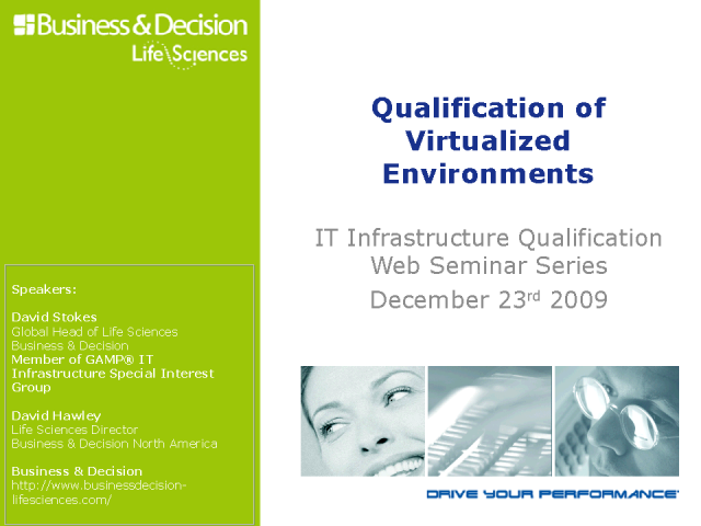 Qualification of Virtualized Environments