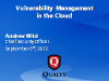 Vulnerability Management in the Cloud