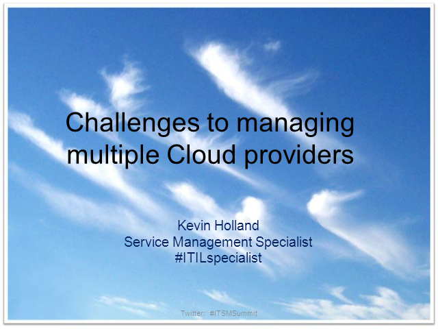 Challenges to Managing Multiple Cloud Providers