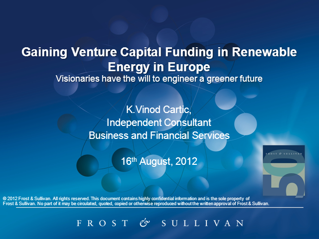 Venture Capital Funding for Renewable Energy in Europe