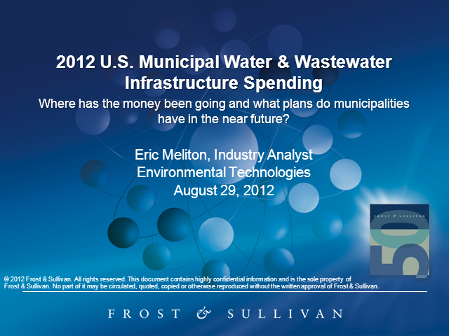 2012 U.S. Municipal Water & Wastewater Infrastructure Spending