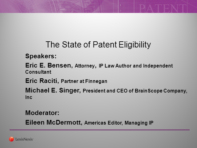 The State of Patent Eligibility