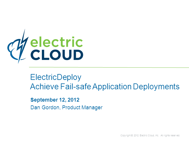 Achieve Fail-safe Application Deployments
