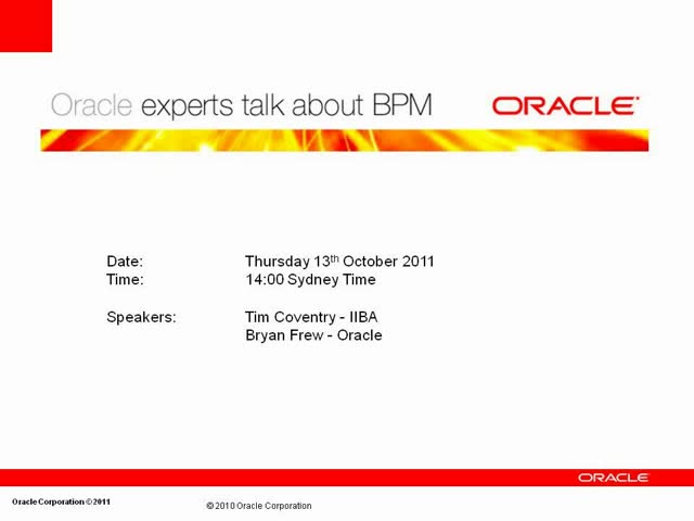 Oracle experts talk about BPM: the Future is now! – Part 3