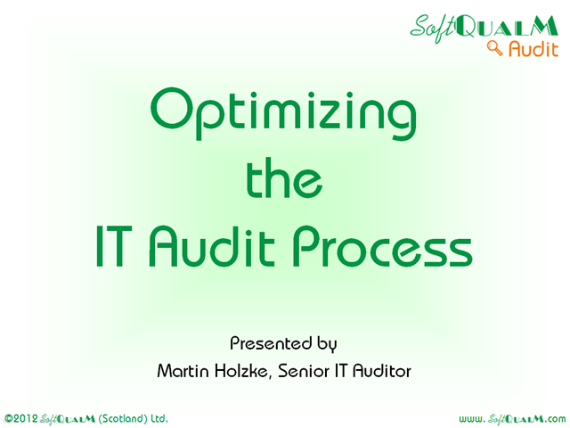 Optimizing the IT Audit Process