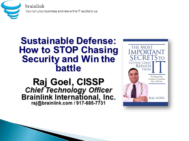 Sustainable Defense: How To Stop Chasing Security and Win the Battle