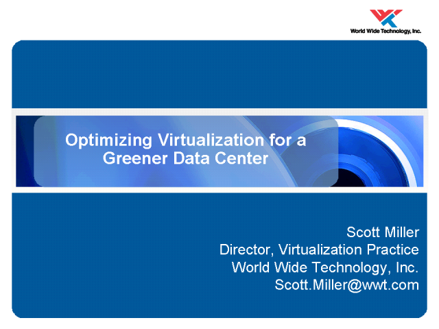 Optimizing Virtualization for a Greener Data Center