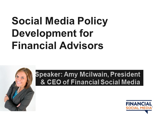 Social Media Policy Development for Financial Advisors