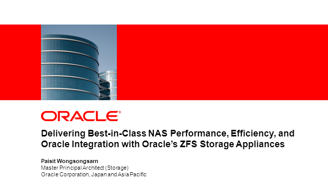 Storage: Better Performance, Lower TCO with ZFS Storage Appliance