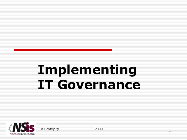 Strategies in Implementing IT Gov Across the Enterprise