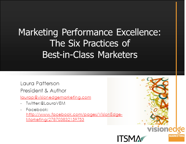 What Best-In-Class Marketers Do to Improve Revenue Performance