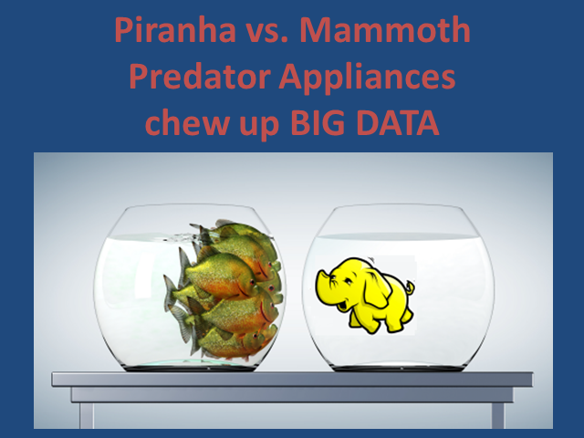 Piranha vs. Mammoth: Predator Appliances Chew-up Big Data