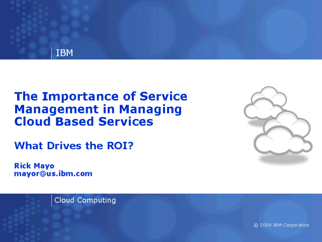 Cloud Implementation: Where does Payback & ROI Come From?