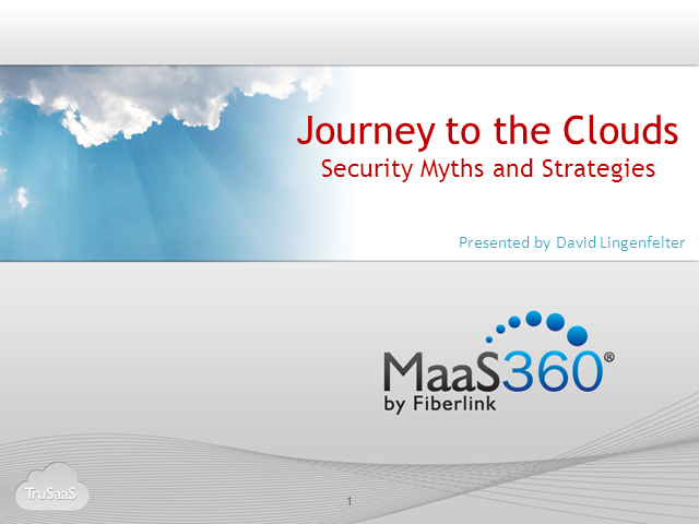 Journey to the Cloud – Security Myths and Strategies