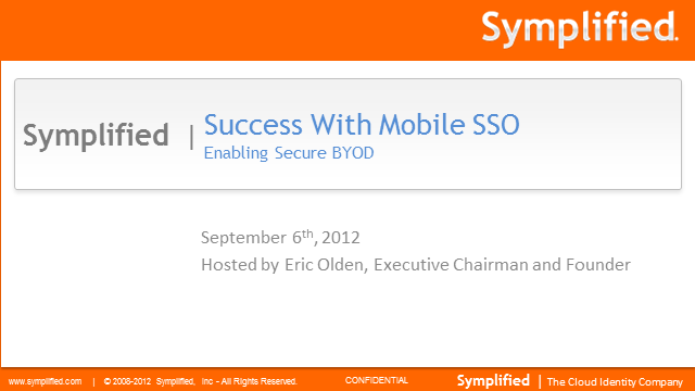 Single Sign-On to Go! How IAM Can Support BYOD