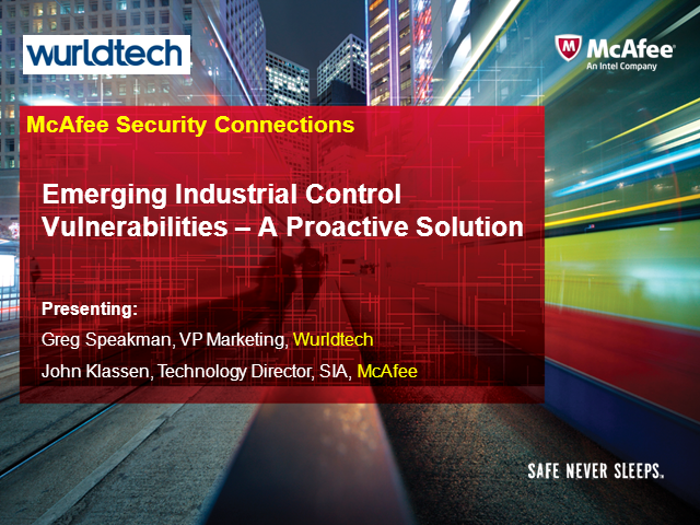 Emerging Industrial Control Vulnerabilities – A Proactive Solution