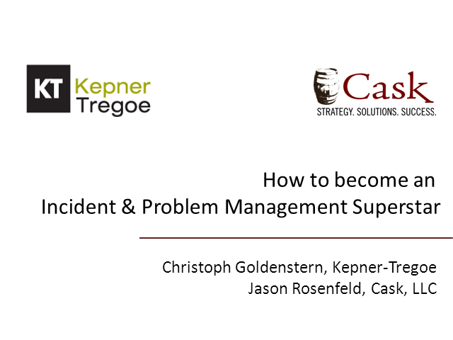 How to Become an Incident & Problem Management Superstar