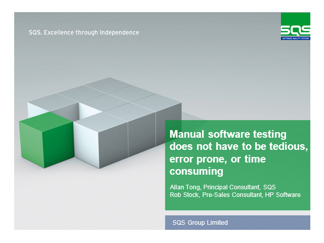 Manual software testing doesn't have to be tedious or time consuming!