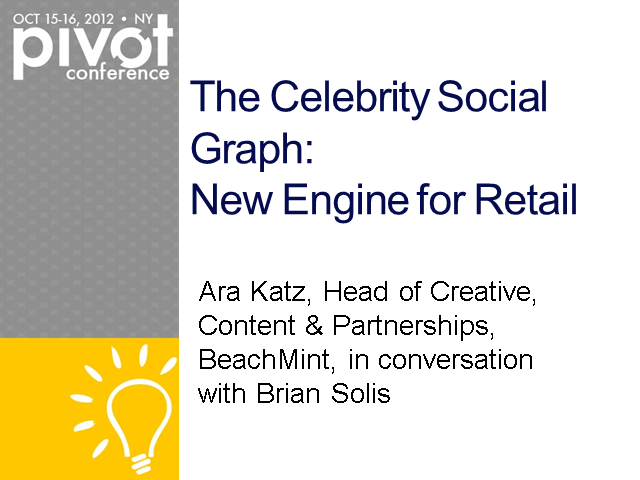 The Celebrity Social Graph: New Engine for Retail
