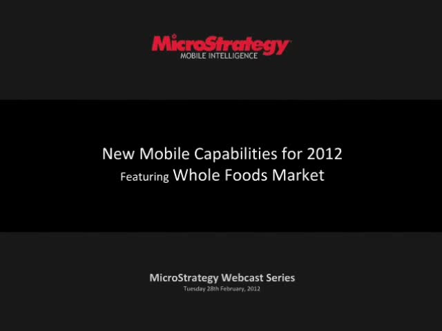 New Mobile Capabilities for 2012