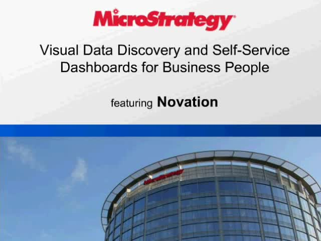 Visual Data Discovery and Self-Service Dashboards for Business People
