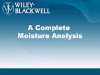 A Complete Moisture Analysis