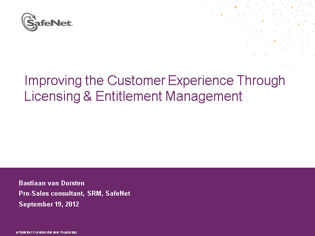 Improving Customer Experience Through Licensing & Entitlement Management