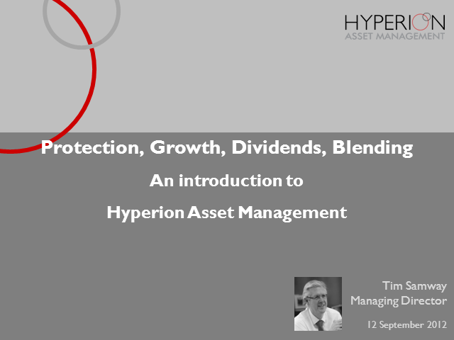 Benefits of Hyperion Asset Management in a blended portfolio