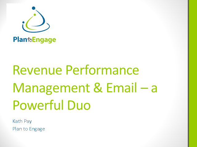 Revenue Performance Management and Email - a Powerful Duo