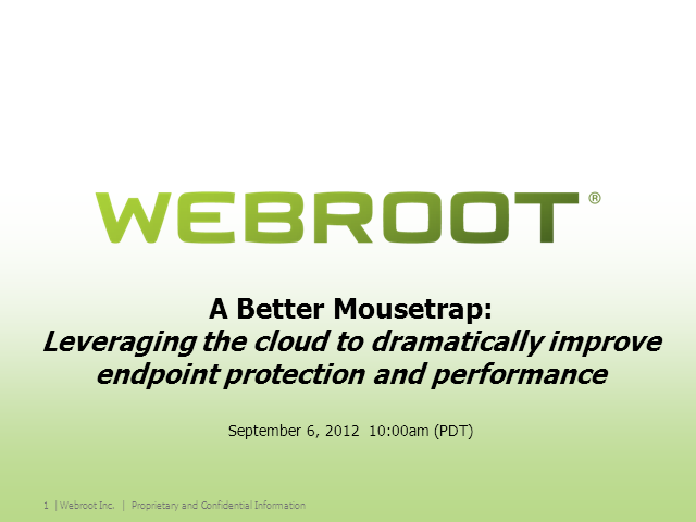 A Better Mousetrap: Leveraging the Cloud to Improve Endpoint Protection