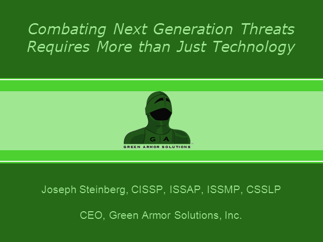 Combating Next Generation Threats Requires More than Just Technology