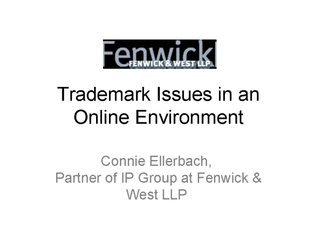 Trademark Issues in an Online Environment